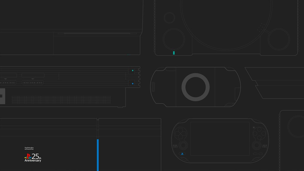 #25YearsOfPlay Wallpaper: Desktop - Dark