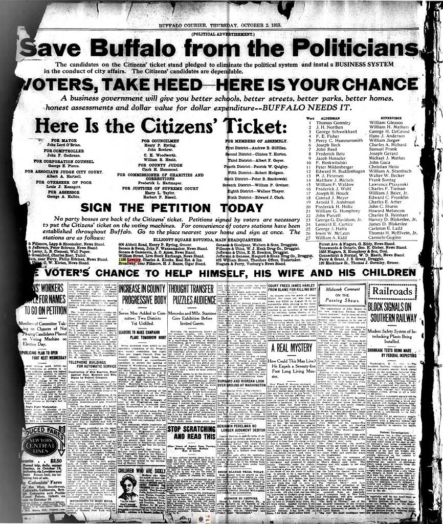Buffalo Courier Express October 2 1913