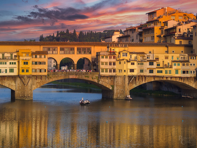 A Fiery Florentine Sunset