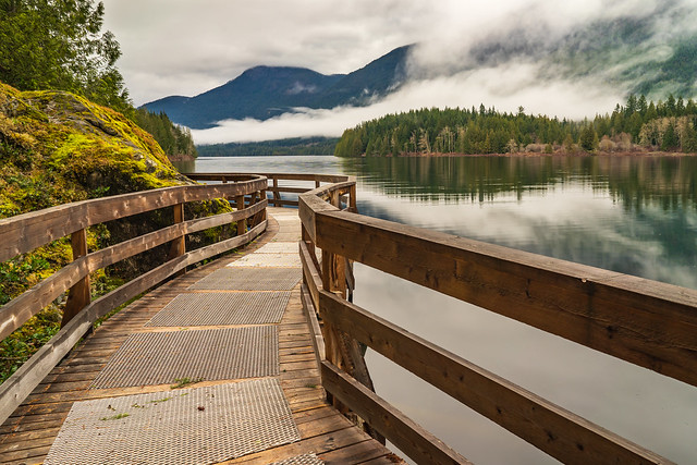 Inland Lake. Near Powell River. BC. Canada.