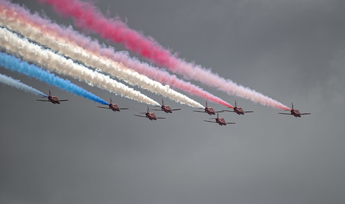 Red Arrows Red, White and Blue Smoke