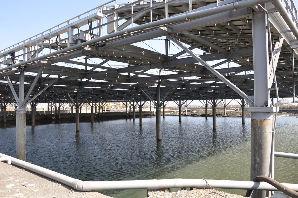 棚架式太陽能板設計不同透光率,測試其對養殖物的影響。孫文臨攝