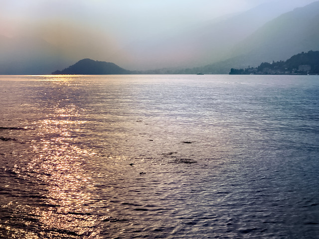 Evening Sun at Lake Como
