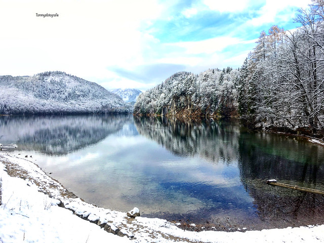 Reflections in the Alpsee in Schwangau