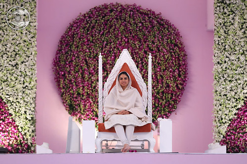 Her Holiness on the sacred dais