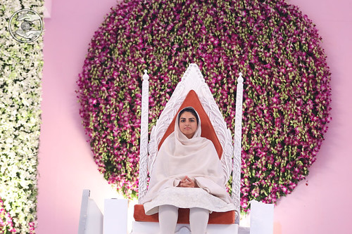 Her Holiness gracing the sacred dais