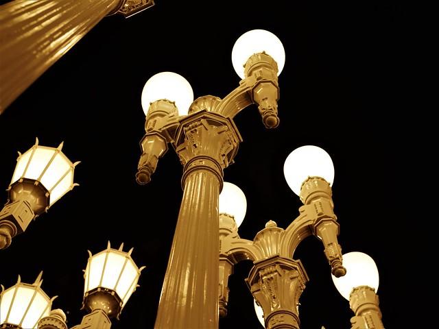 Looking Up Thru Urban Lights