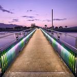 Raglan bridge at night