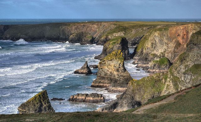 Bedruthan Steps, North Cornwall