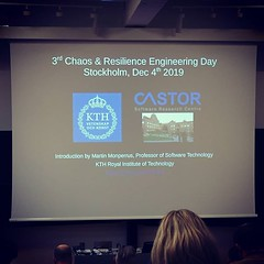 Ready for: 3rd Chaos & Resilience Engineering Day, Stockholm, Dec 4th 2019