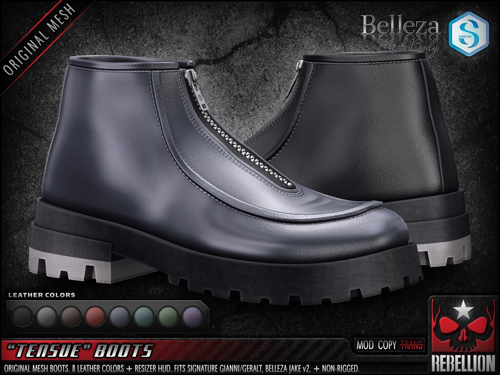 "= REBELLION = ""TENSUE"" BOOTS"