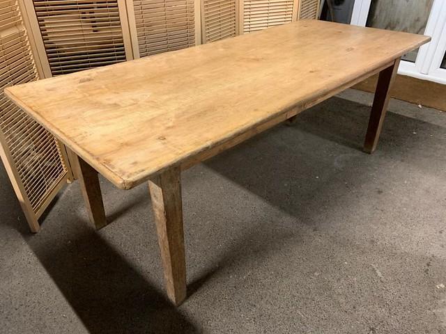 19th Century Pale Ash Rustic Farmhouse Table