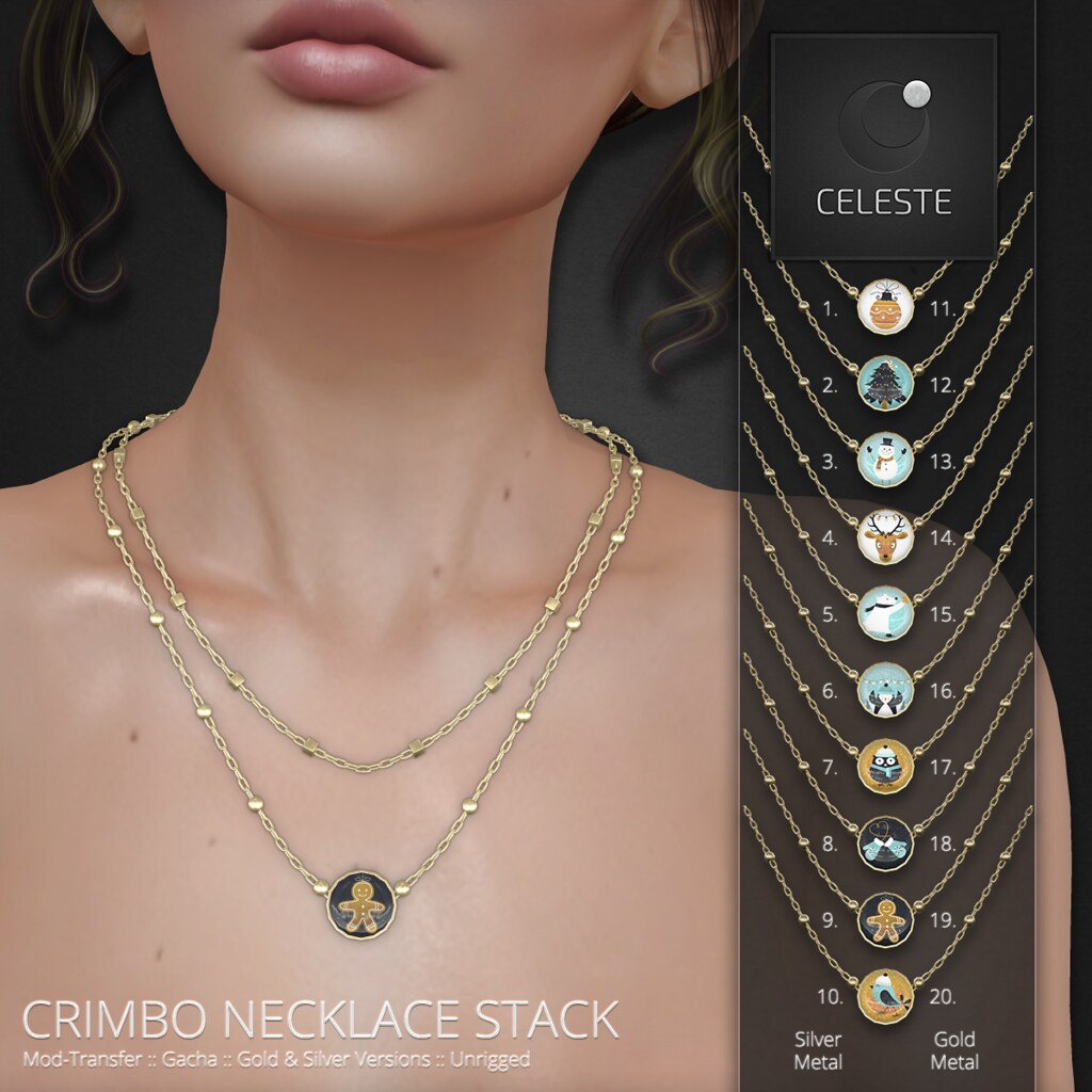 Celeste – Crimbo Necklace Stack – Gacha