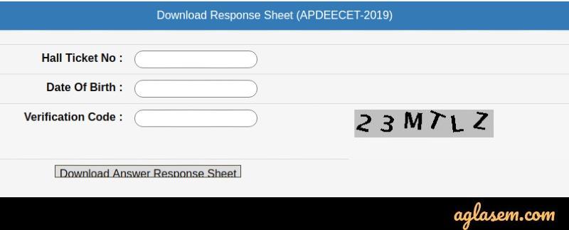 AP DEECET 2020 Response Sheet
