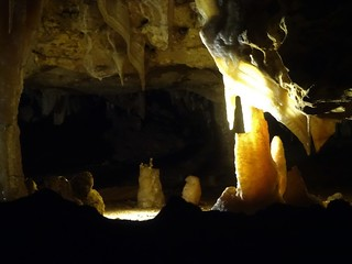 Naracoorte. Limestone cave formations in the UNESCO heritage listed Naracoorte fossil caves.
