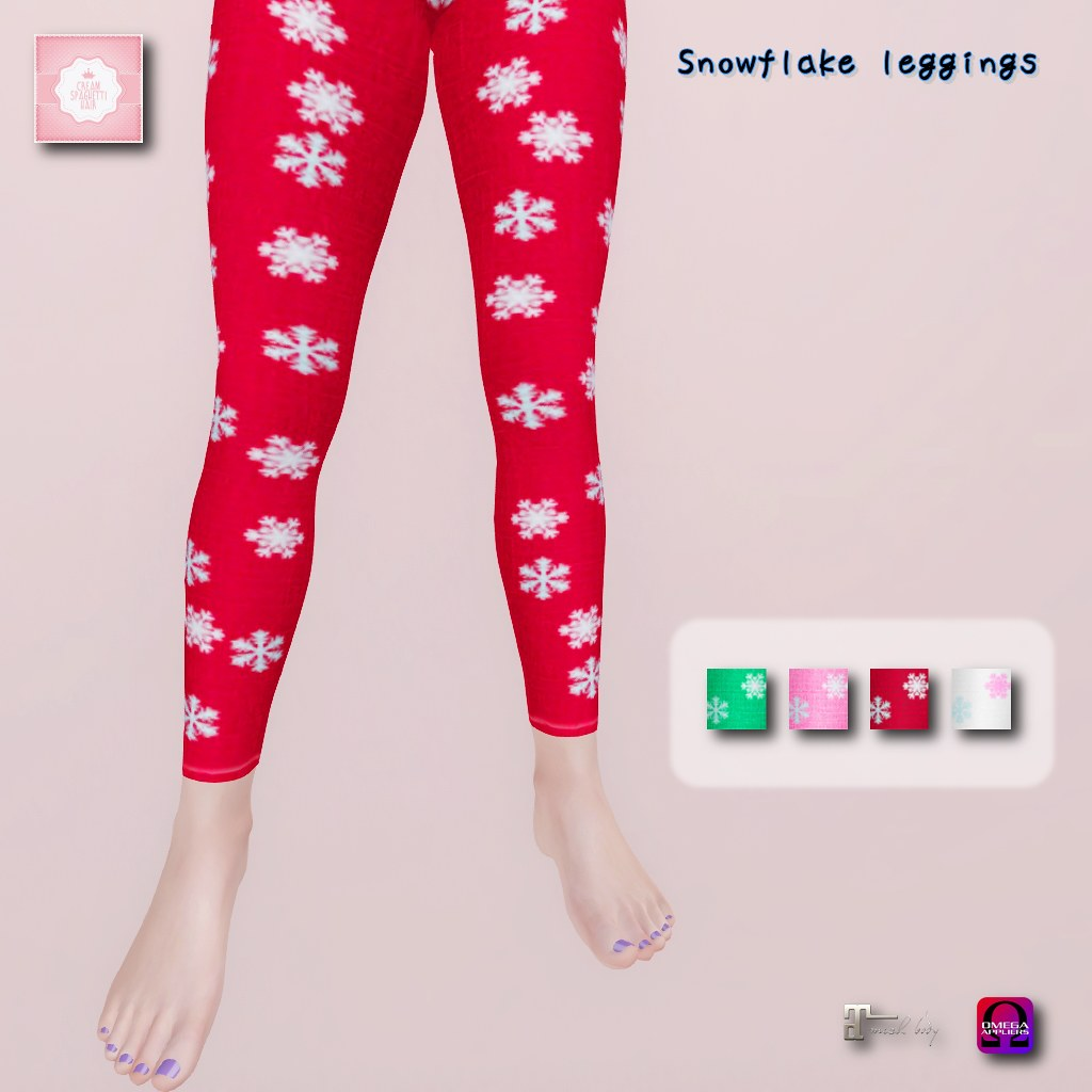 !cream spaghetti hair! Snowflake leggings AD