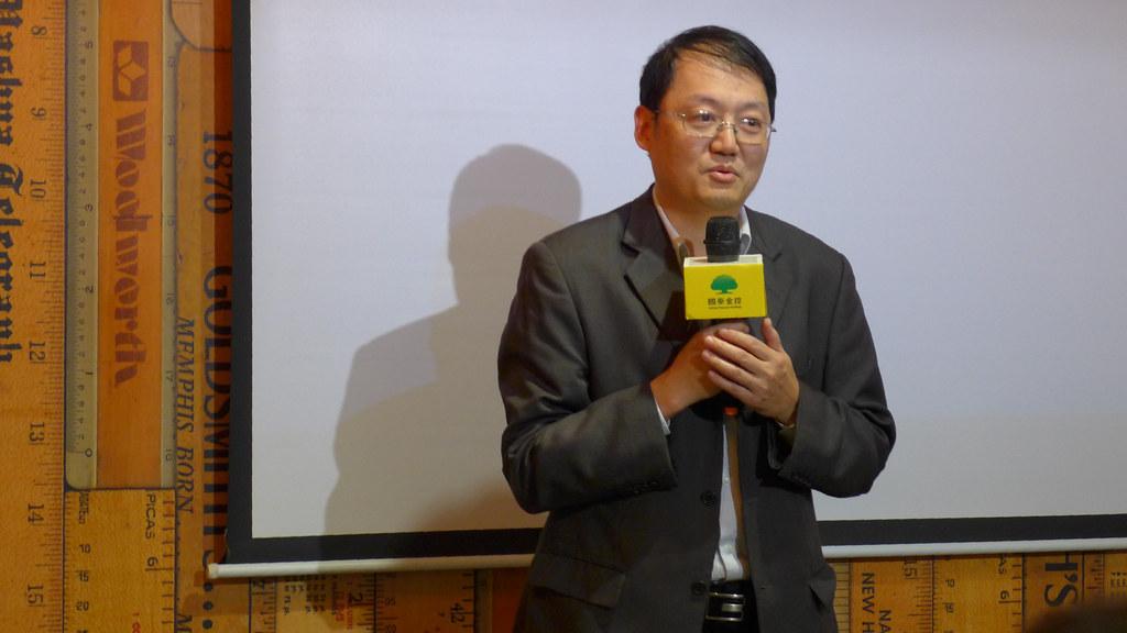 能源局組長吳志偉說,樂見電業自由化成真,讓台灣再生能源發展更進一步。孫文臨攝