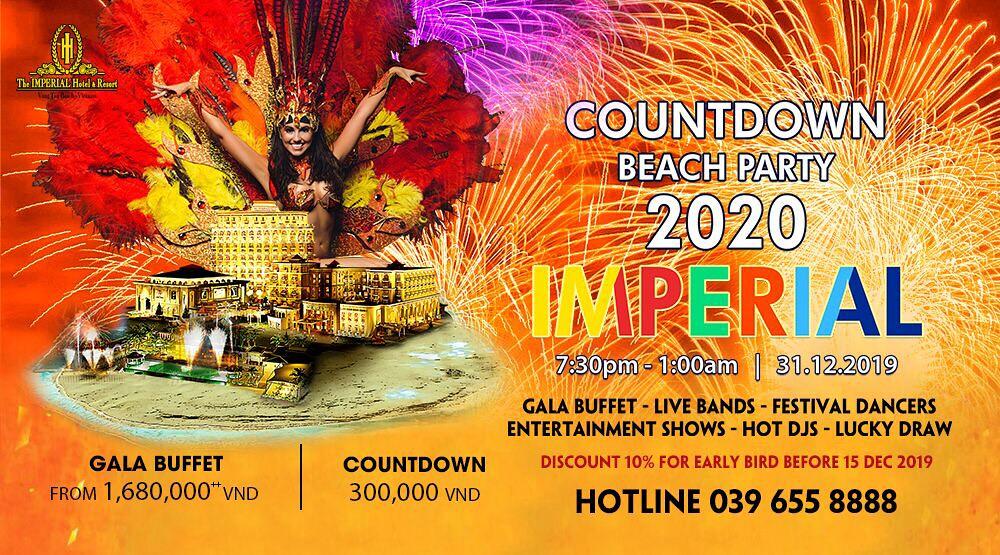 Vũng Tàu Countdown Beach Party chào năm mới 2020