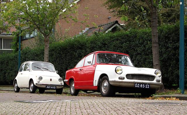 1963 Bond Equipe & 1969 Fiat 500 L