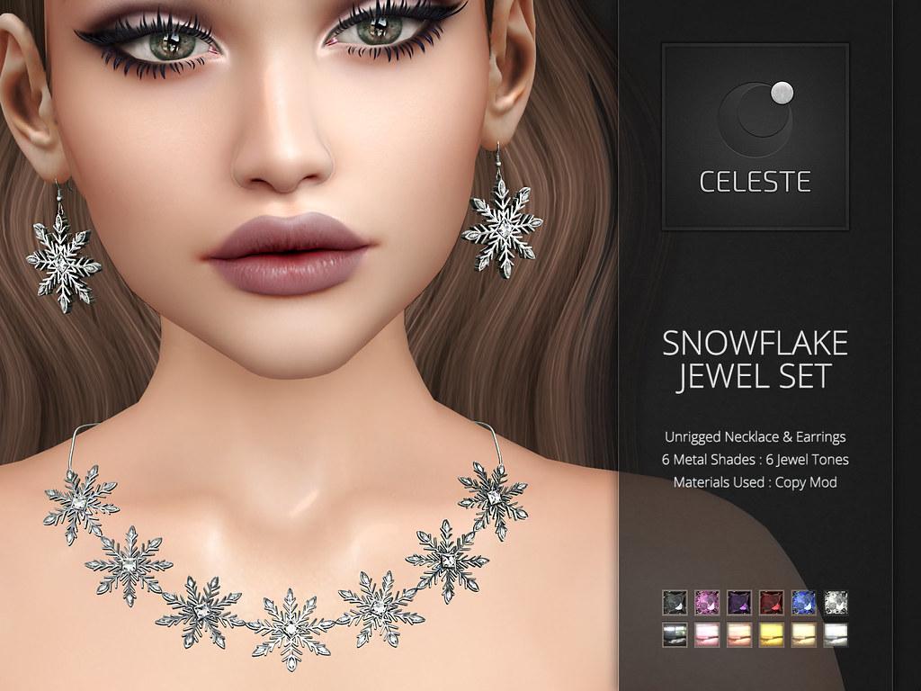 CELESTE – Snowflake Jewel Set