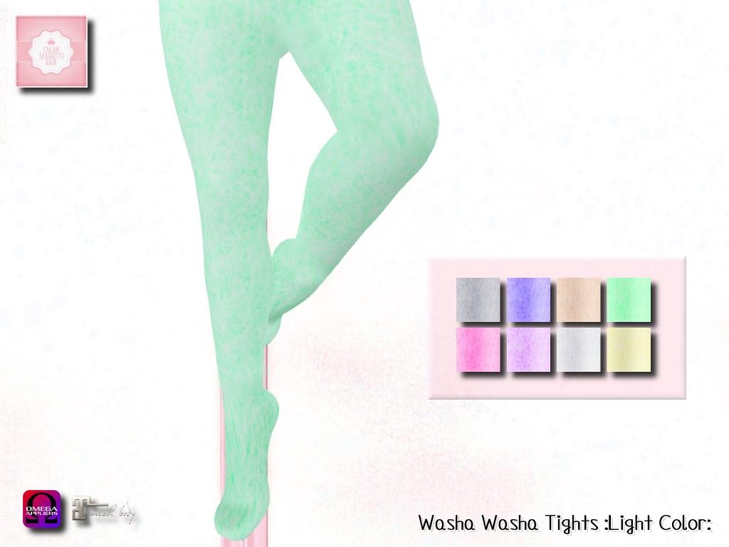 !cream spaghetti hair! Washa Washa Tights :Light Color: AD