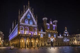 Town Hall in Mechelen yesterday evening