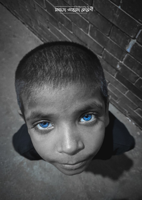 Blue Eyes as her disguise!