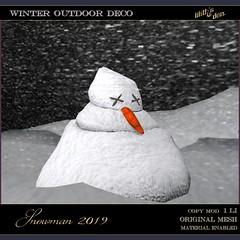Lilith's Den -  snowman 2019