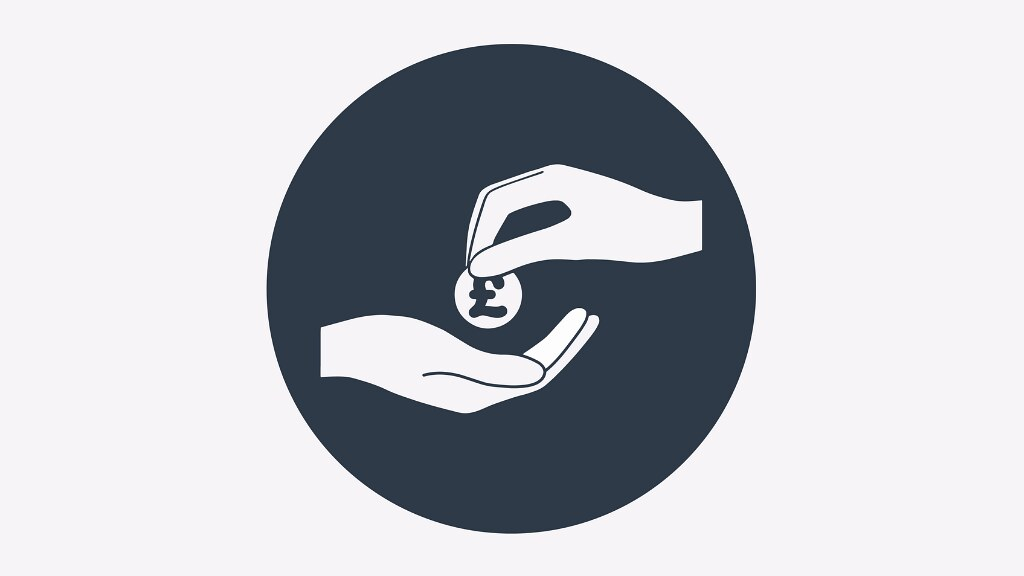 A graphic of a hand receiving a coin.