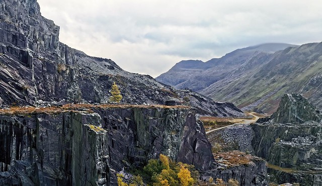 Abandoned quarry in Dinorwic