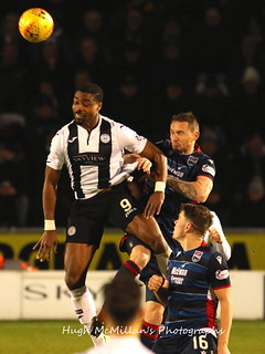 St Mirren 2 - 1 Ross County, Scottish Premiership.