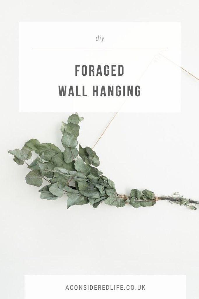 DIY Foraged Wall Hanging