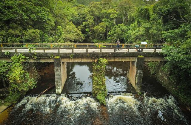 Ponte sobre o Rio Itatinga - Parque das Neblinas - Bertioga - Brasil
