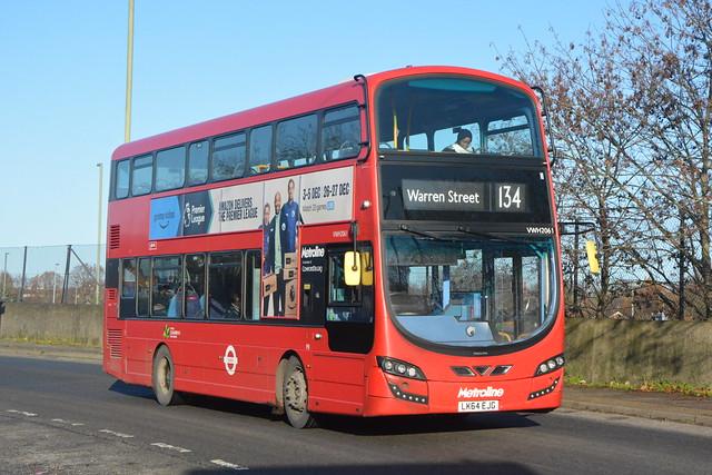 LK64 EJG (VWH2061) Metroline London