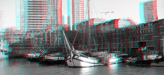Wijnhaveneiland Rotterdam 3D B&W