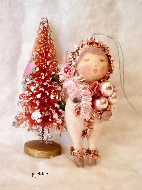 spun cotton snow baby vintage craft by jejeMae