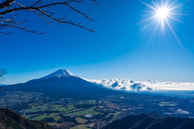 右側に駿河湾@富士山展望台