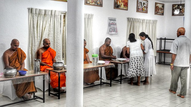 Serving Lunch to the Monks