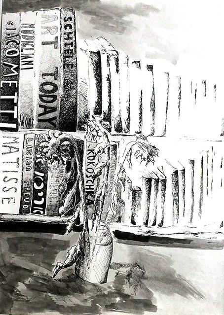 קומפוזציה רישום בקו אמן צייר ישראלי מודרני נקודה נקודות קו לבן שחור רפי פרץ מרקר מרקרים טוש טושים בטוש בטושים קווים  raphael perez israeli artist