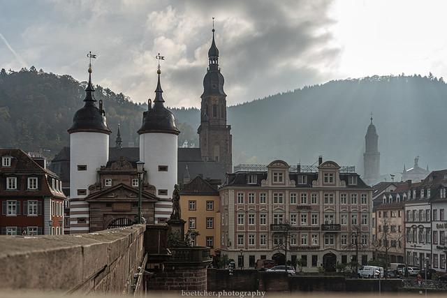 At the Old Bridge in Heidelberg - November 2019 IV A