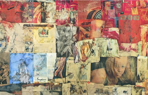 Ad Snijders, Untitled (detail), 1965, collage on hardboard, 213 x 330 cm.
