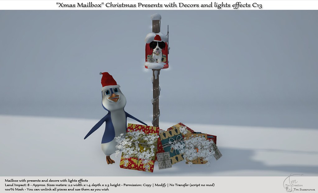 ".:Tm:.Creation ""Xmas Mailbox"" Christmas Presents with Decors C13"