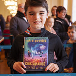 Tom Fletcher fan poses with book: © Robin Mair |