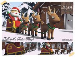 Inflatable Santa Sleigh CHEZ MOI