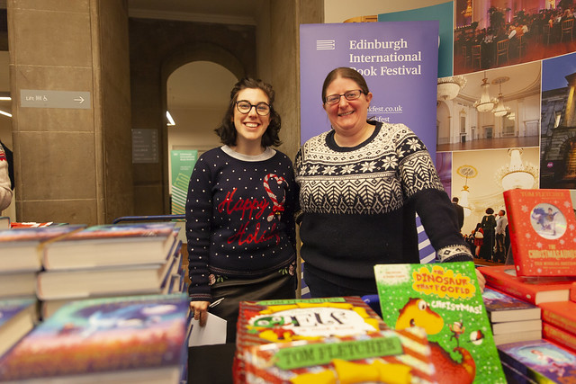 Book Festival staff at Assembly Rooms for Tom Fletcher: © Robin Mair
