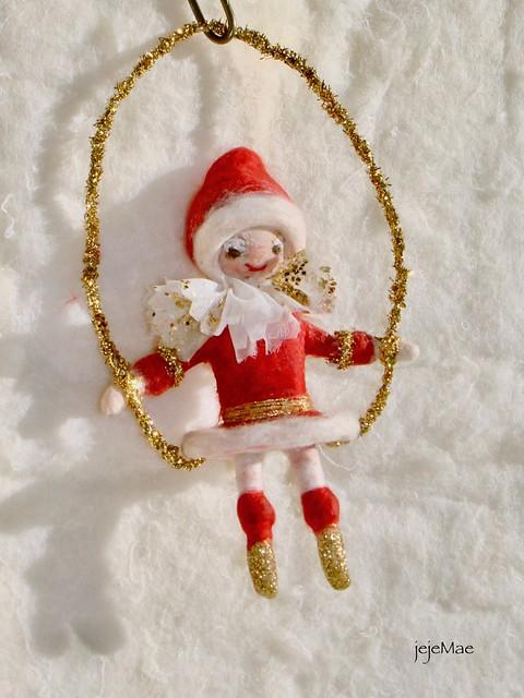 spun cotton Christmas pixie