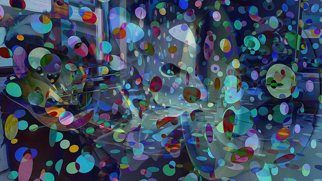 Bildschichten Yayoi Kusamas Punkteraum 21