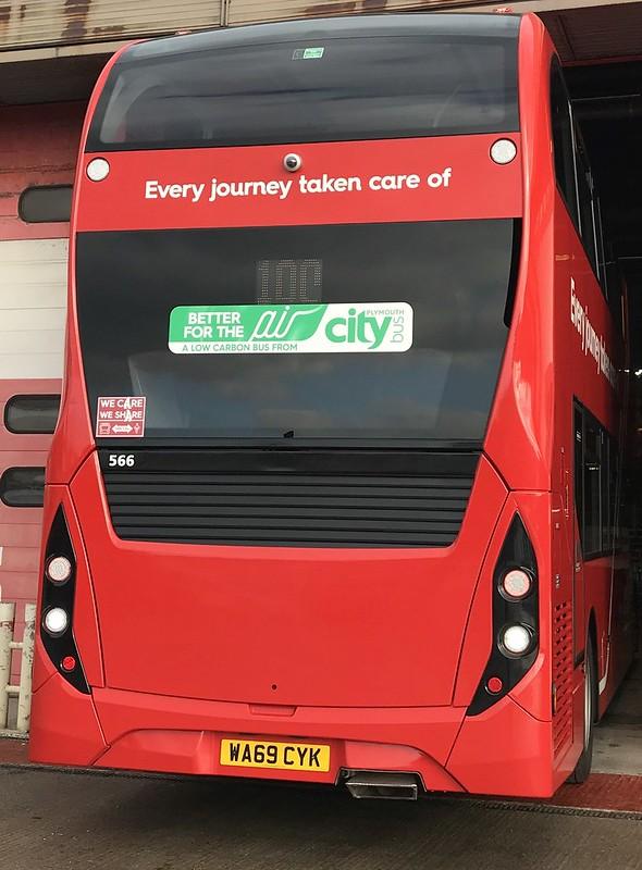 Plymouth Citybus 566 WA69CYK