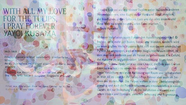 Bildschichten Yayoi Kusamas Punkteraum 01