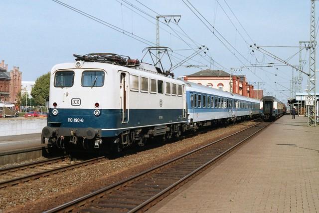 DB 110 190-6 te Leer op 14-9-1991 (SCAN)